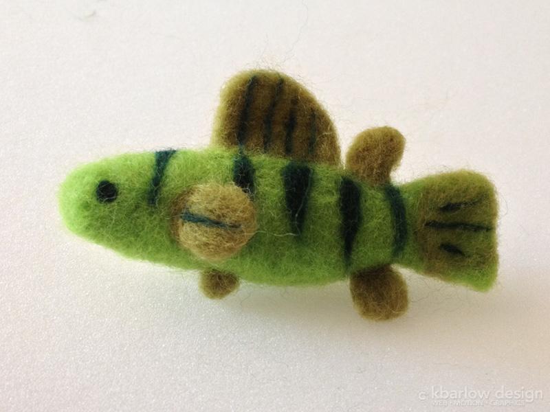 needle felted fish | www.kbarlowdesign.com/blog