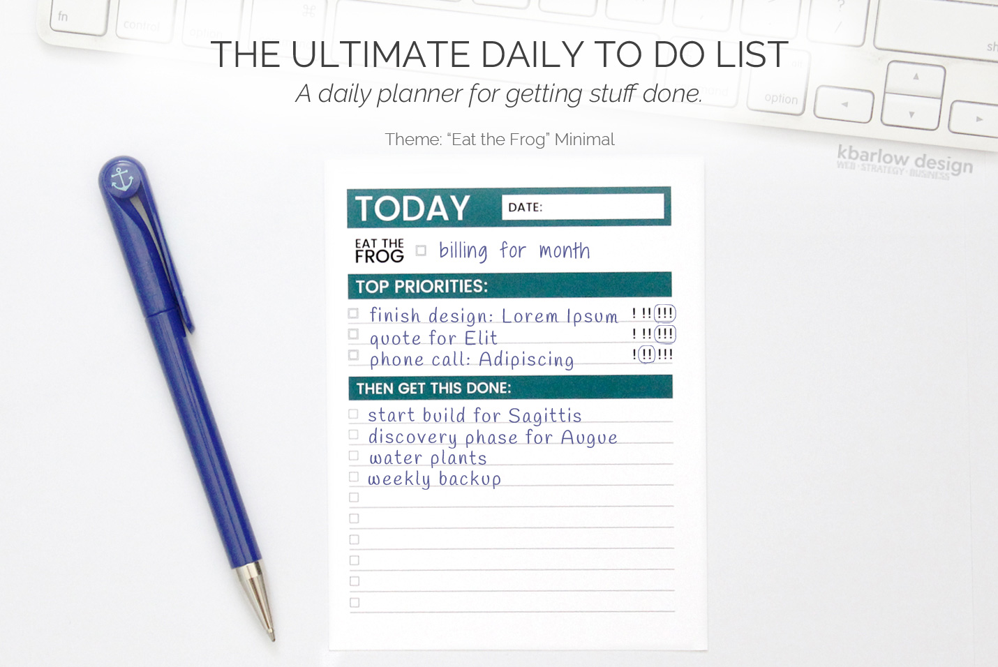 to do list design