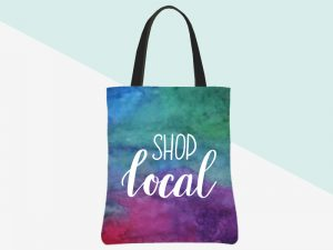 kbarlow design totes: shop local