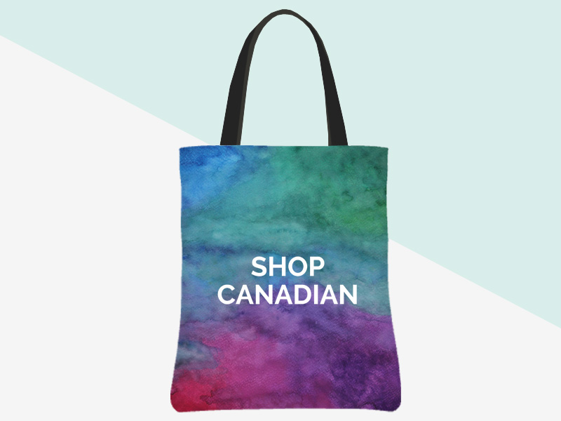 Shop Canadian Tote - (watercolour/white) | kbarlowdesign.com/shop