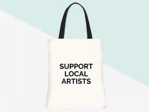 kbarlow design totes: support local artists