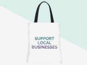 kbarlow design totes: support local businesses